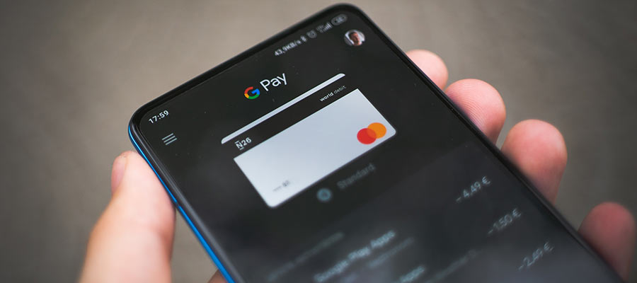 A payment app displayed on a smartphone.
