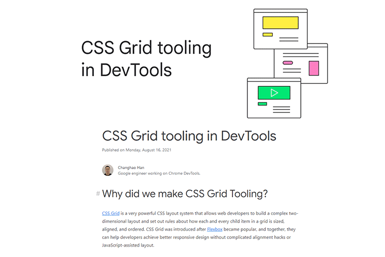 Example from CSS Grid tooling in DevTools