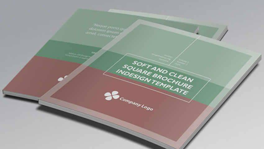 Soft Clean Square InDesign Brochure Template