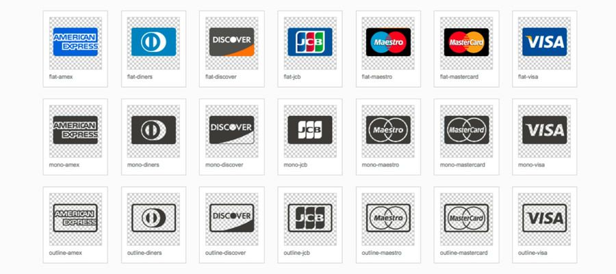 SVG Credit Card Provider Icons
