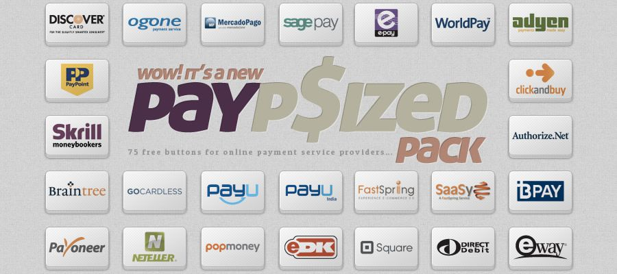 Buttons For Online Payment Service Providers psd png