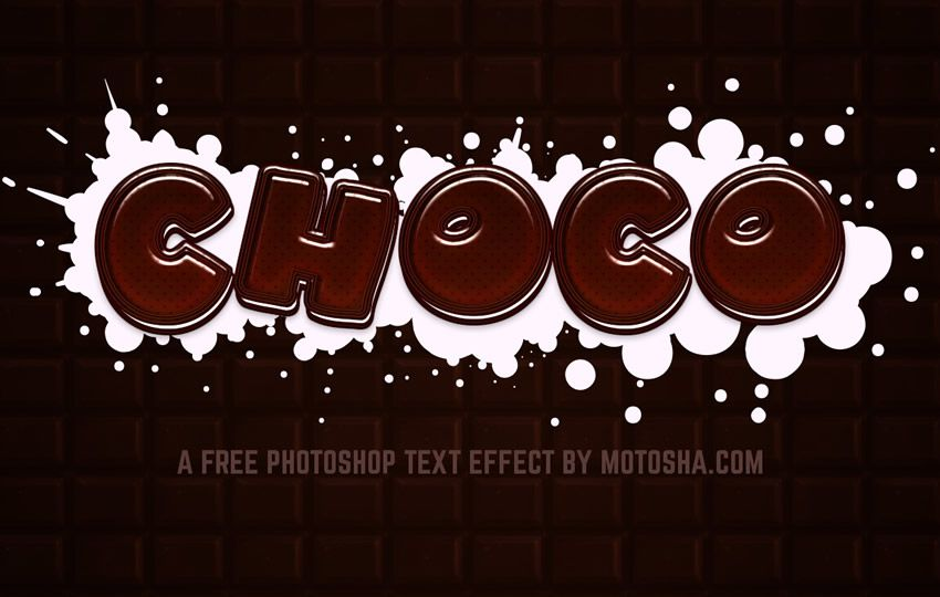 Free Photoshop Layer Styles PSD Chocolate Text Effect