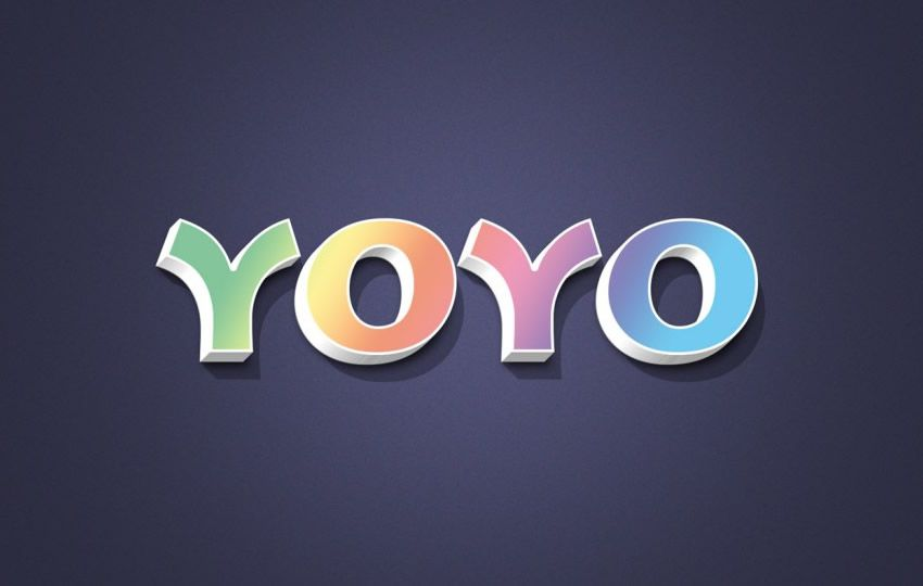 Free Yoyo Photoshop Text Effect Template Layer Styles PSD