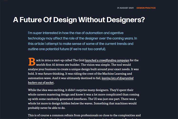 Example from A Future of Design Without Designers?