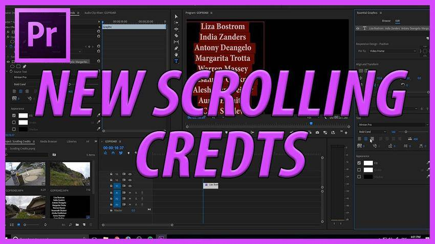 How to Create Credits in Adobe Premiere Pro