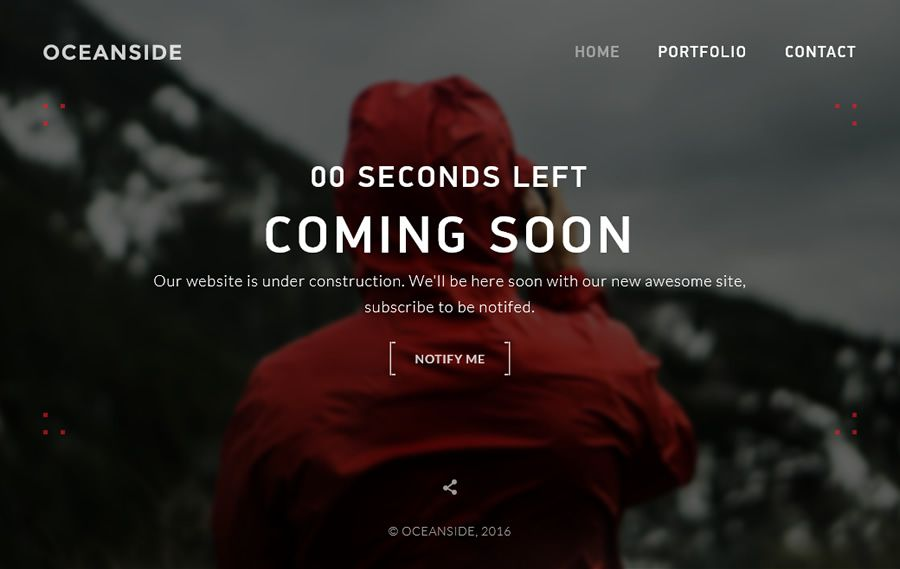 OceanSide HTML Template coming soon page web design inspiration