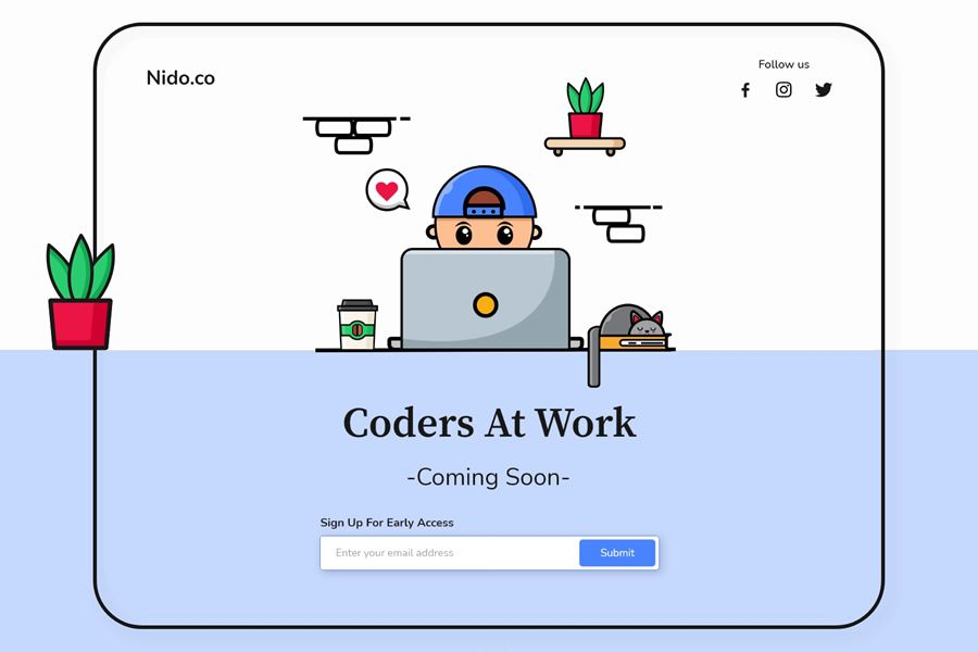 Coders at Work coming soon page web design inspiration