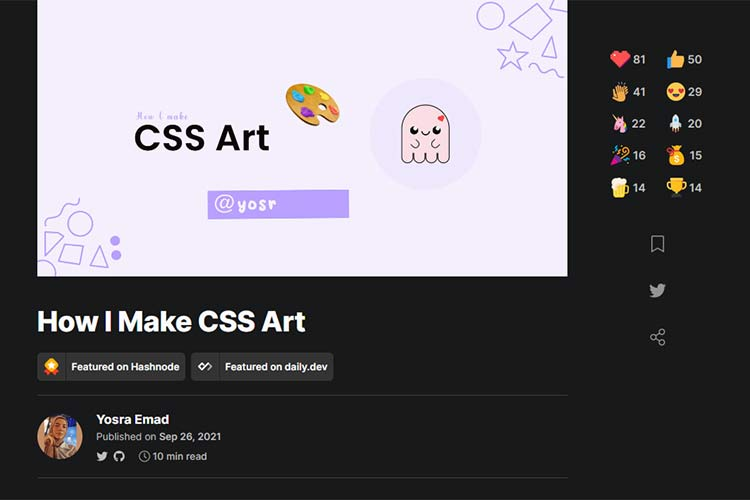 Example from How I Make CSS Art